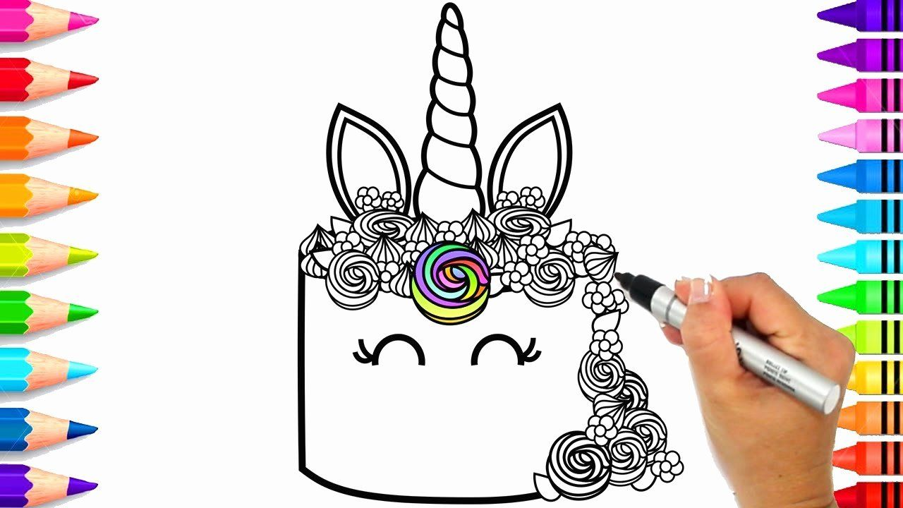 Unicorn Cake Coloring Page Unicorn Coloring Pages Shopkins Coloring Pages Free Printable Birthday Coloring Pages