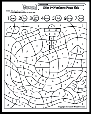 Color By Number Coloring Pages Pirate Coloring Pages Coloring Pages Alphabet Coloring Pages
