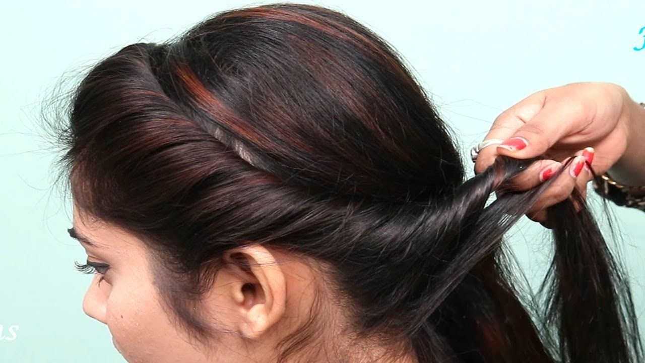 Latest hairstyles for party/Wedding ☆ Easy hairstyle for