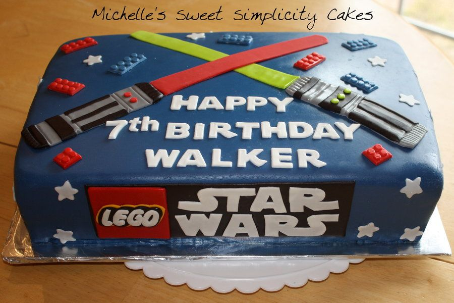 Super Lego Star Wars Cakes Lego Star Wars Birthday Cake By Michelle Birthday Cards Printable Giouspongecafe Filternl