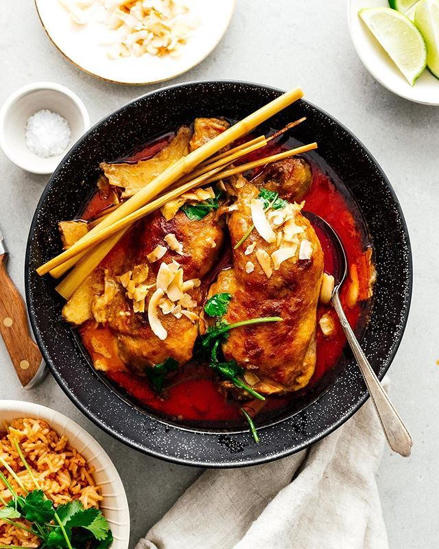 Easy Coconut Curry Chicken Thighs
