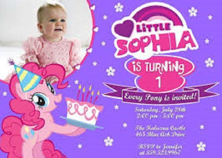 Little Pony Birthday Invitation Logo