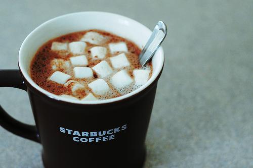 Cocoa with tiny marshmallows