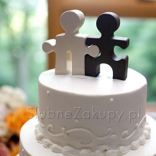 Figurka Na Tort Puzzle Hochzeitstorte Figur Cake Topper