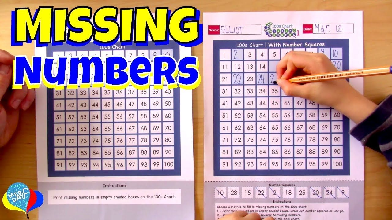 100s Chart Missing Numbers 1 30 For Kids Join Elliot And Learn 10 Numbers Between 1 30 Missing From A 100s Chart L Math Worksheets Worksheets For Kids Math [ 720 x 1280 Pixel ]