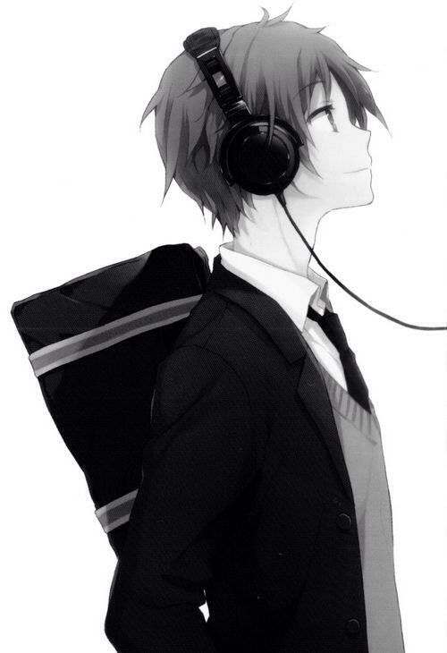 Anime Version Of My Bae Anime Music Anime Boy With Headphones