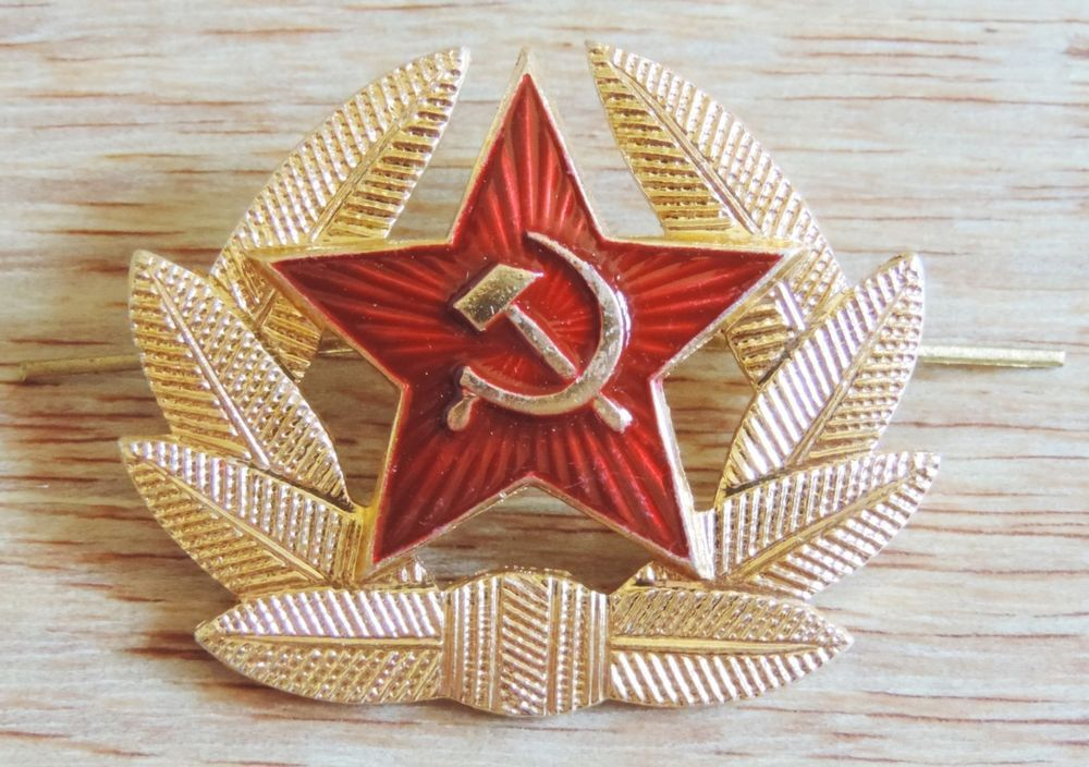 4fef87cae05 SOVIET RUSSIAN ARMY COCKADE HAT PIN RED STAR ENAMEL METAL BADGE CAP KOKARDA  NEW