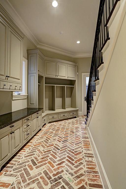 Dont Like The Cabinets But Love Herringbone Brick Floors