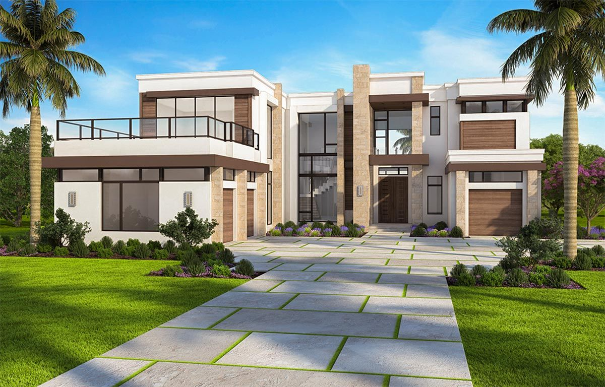 Plan 86052bw Marvelous Contemporary House Plan With Options Modern House Exterior Luxury House Plans Contemporary House Plans