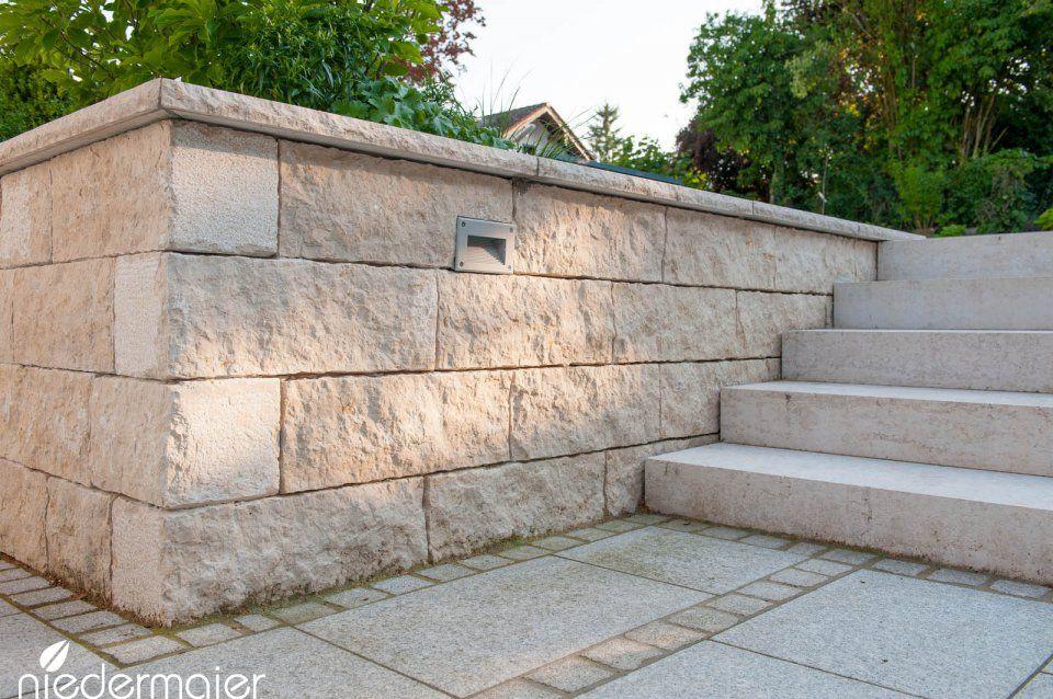 Steinpflaster, Wege und Stufen - Gartenideen - Niedermaier Gärten - gartenideen wall