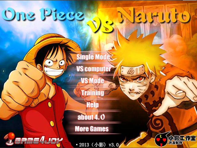 One Piece VS Naruto V3 [Flash Game for PC] OnePiece