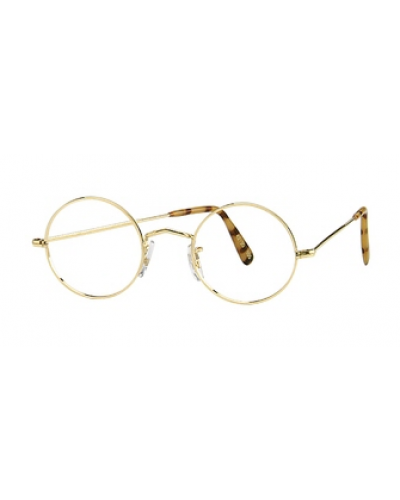 65e7c00f11 Perfectly Round Eyeglasses with Nose Pads 14K Rolled Gold - Eyeglass.com   round  eyeglasses  vintage  frames