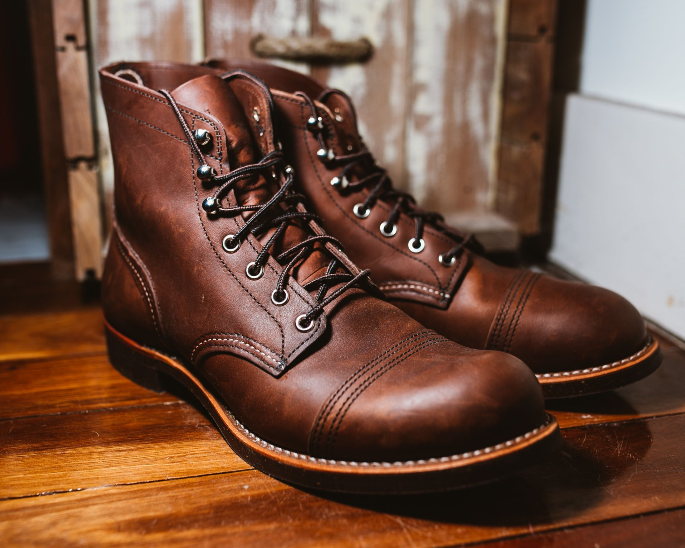 Red Wing Iron Ranger #8111 in Amber Harness Leather | Boots ...