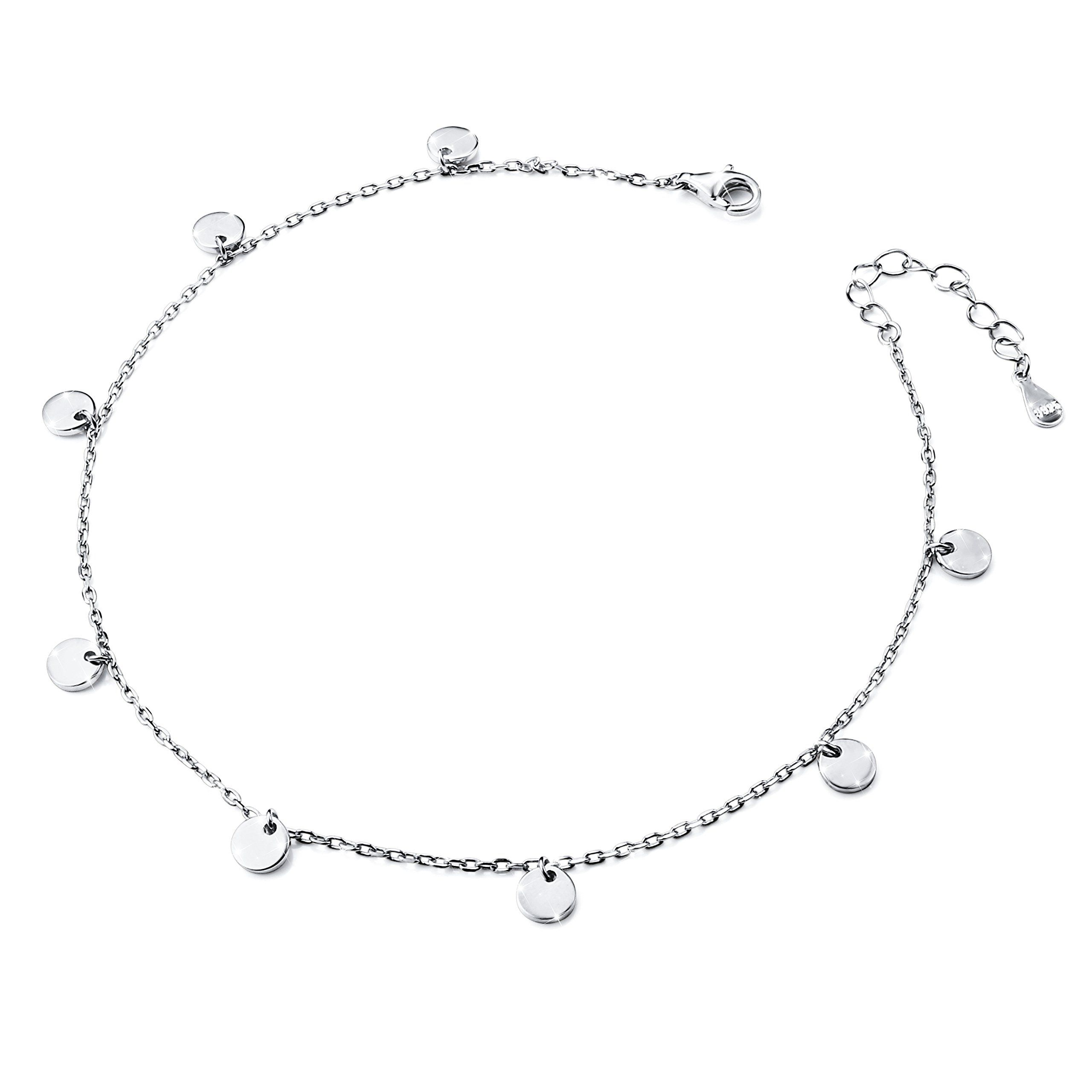 anklet silver products for ladies sarang girls payal polished anklets img