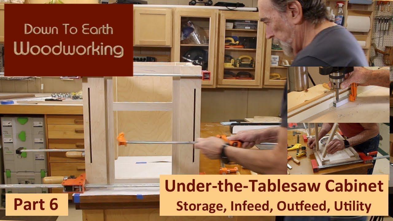 Under Table Saw Storage Cabinet Part 6