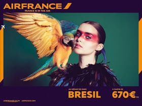 Air France Campaign inspired by Vintage Travel Posters