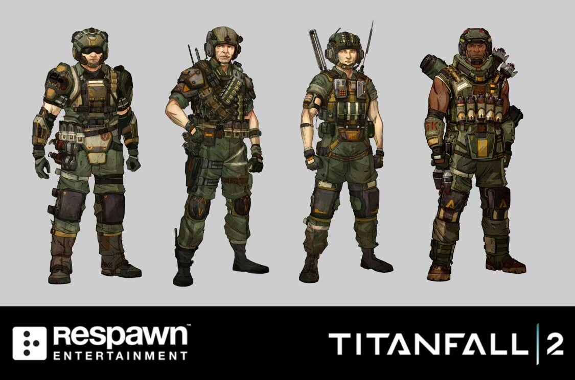 titanfall 2 militia grunts nearfuture modelling
