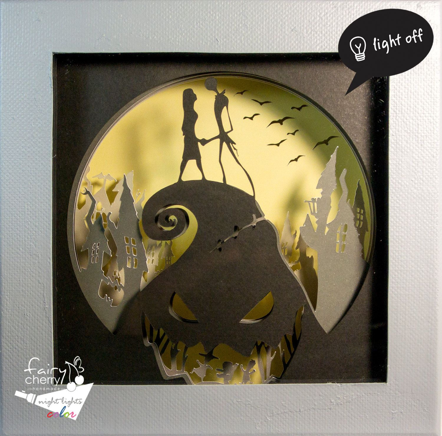 Nightmare before Christmas shadow box night light, unique special ...