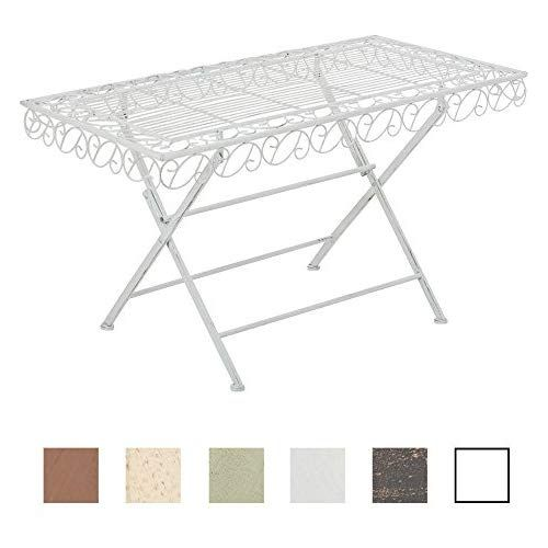 CLP Table de Jardin Rectangle Josefa, Table de Balcon de ...