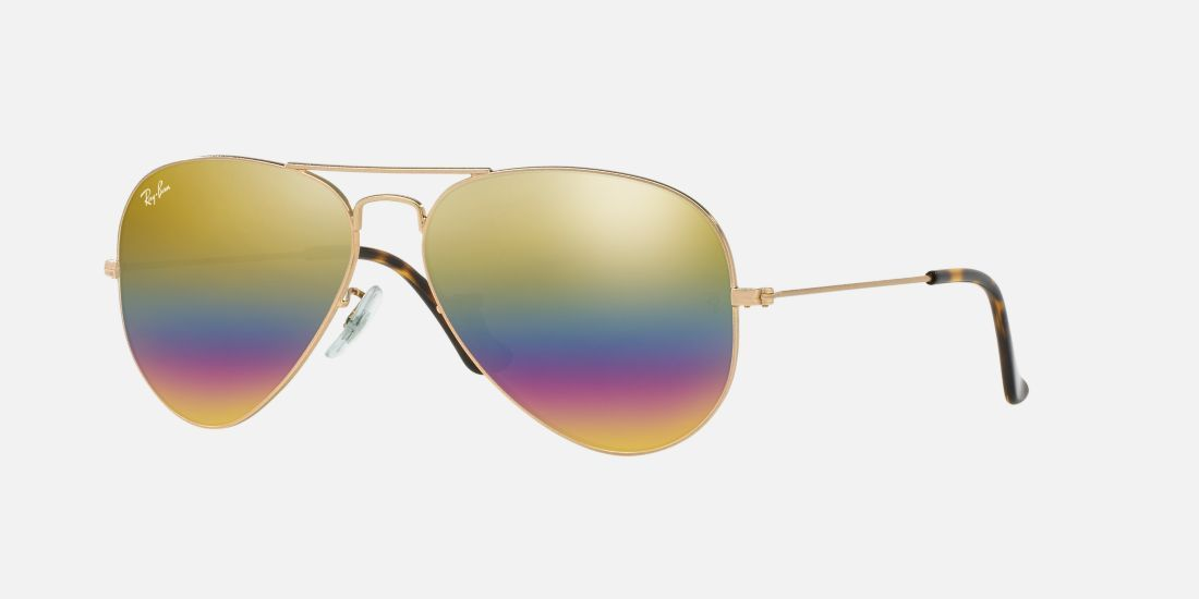 8e3f044c7a Ray-Ban RB3025 58 ORIGINAL AVIATOR RAINBOW 58 Multicolor Bronze Sunglasses