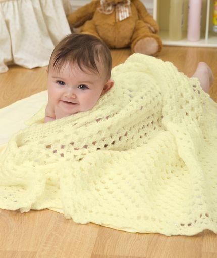 Sunshine Baby Blanket Crochet Pattern Red Heart