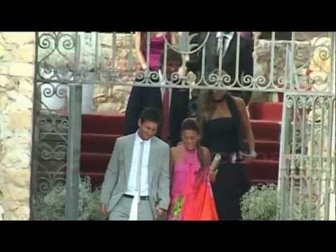 Piqué, Puyol y Messi en la boda de Iniesta