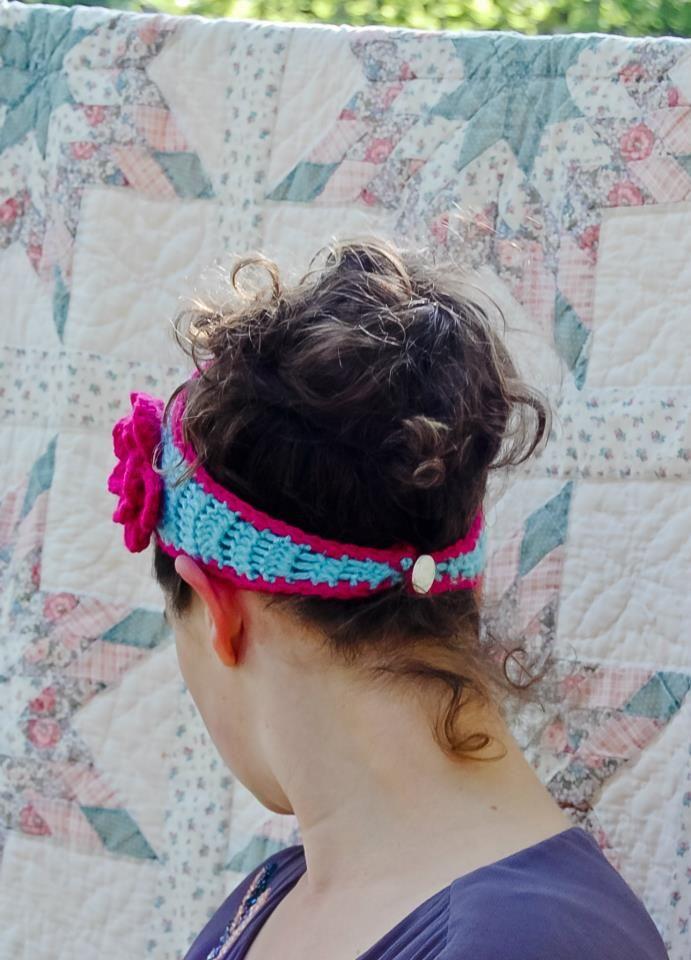 Tapered flower headband | A free crochet pattern from Alaska Knit ...