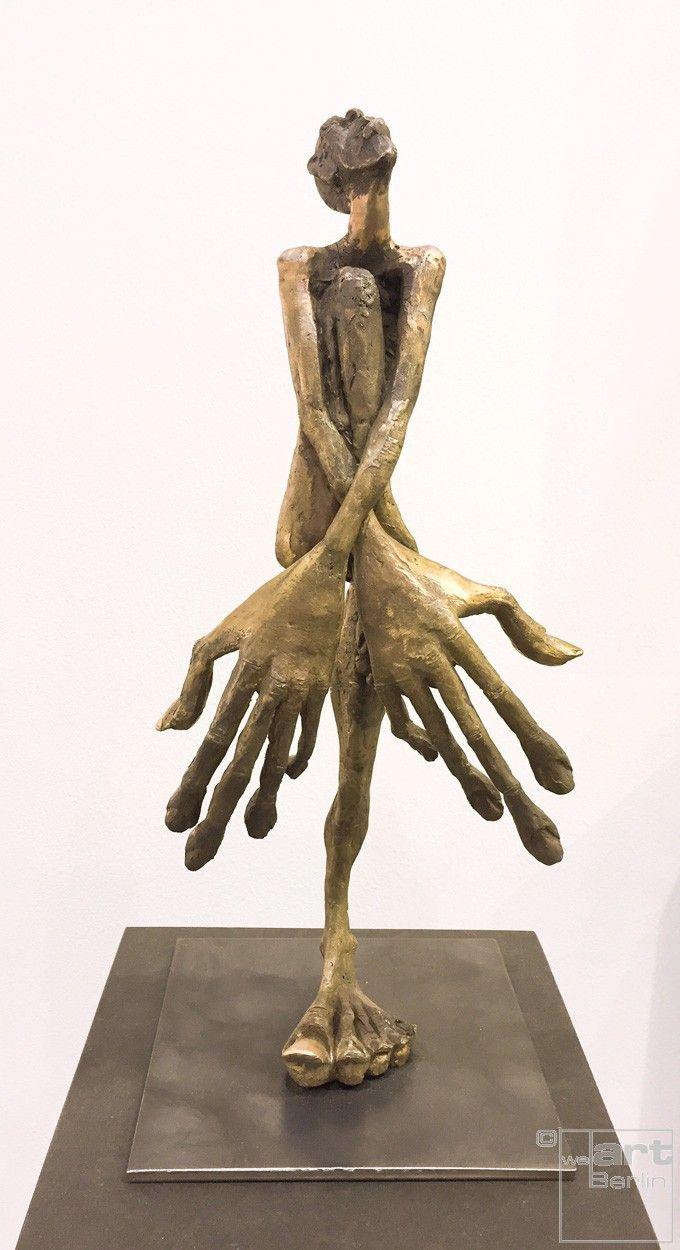 schamdi frontal bronze plastik skulptur von tim david trillsam edition kunst skulpturen abstrakte modern art bilder