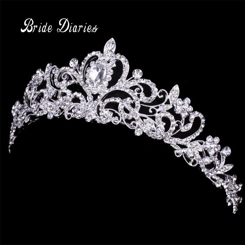 Bridal Crown Wedding Tiaras for Brides Hair Ornaments #crowntiara