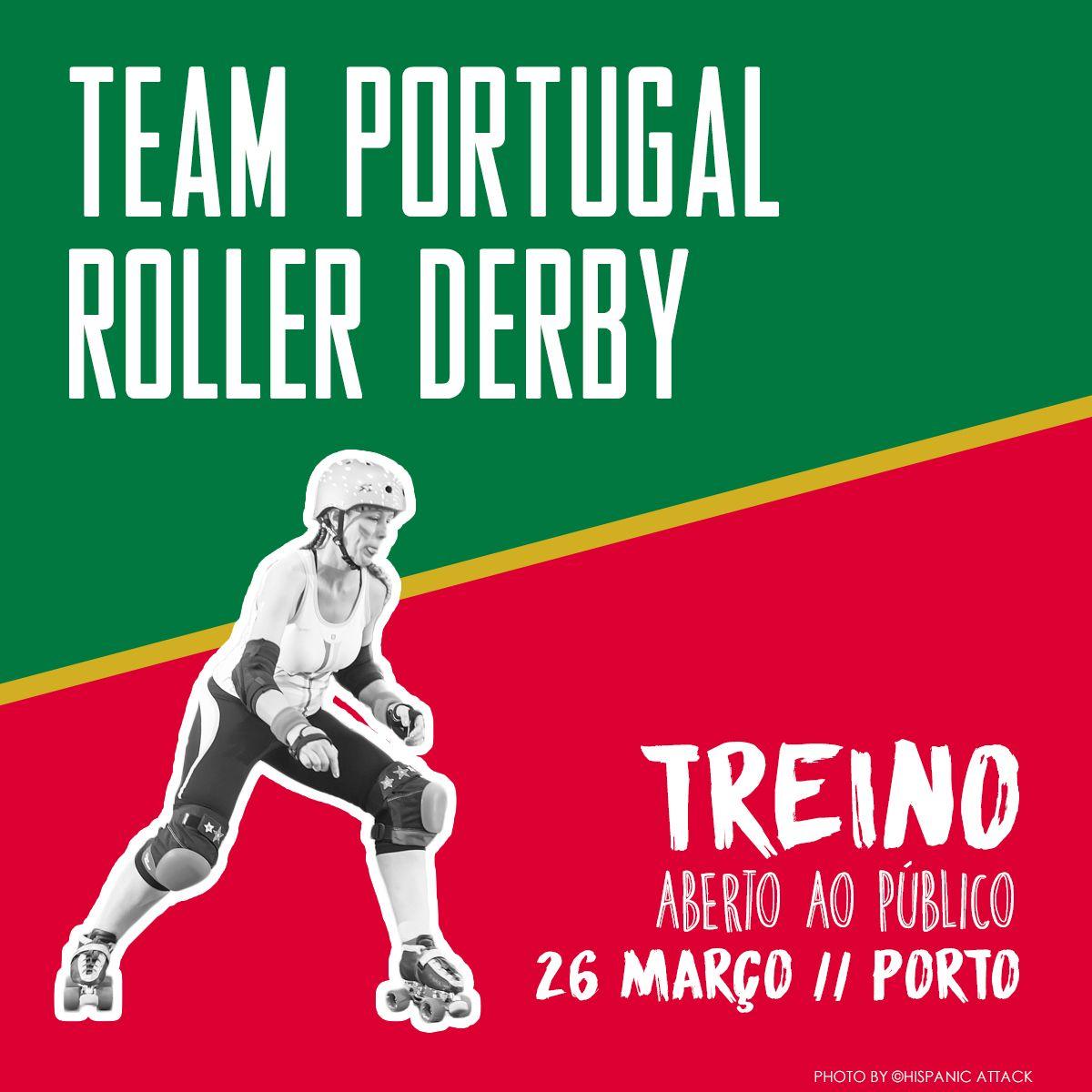 [PT] IMPERDÍVEL! No Sábado dia 26 de Março, vai ter lugar no Pavilhão do Lagarteiro, no Porto, o primeiro treino oficial de 2016 da Team Portugal Roller Derby. Este treino vai serabe…