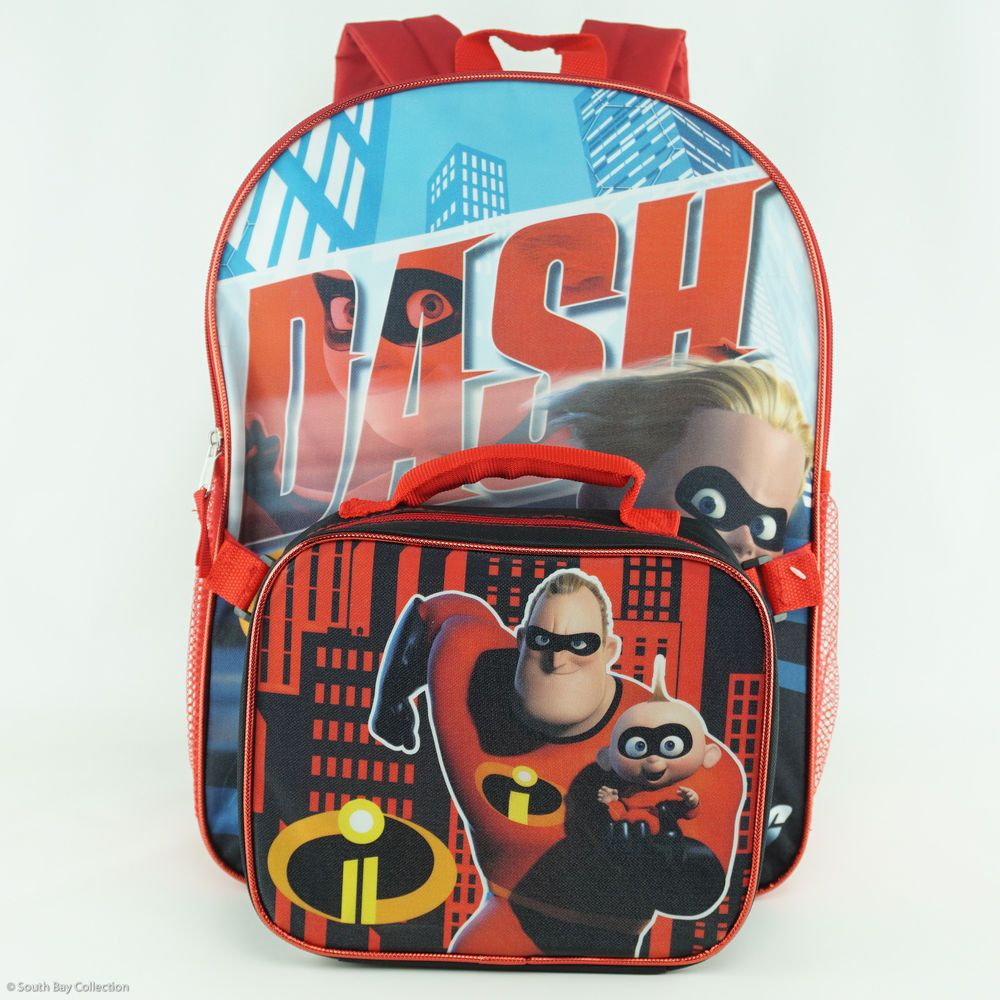 c127226b741 The Incredibles Kids Backpack and Lunchbox Set for Boys Large Disney  Characters  Disney  Backpack  theincredibles  theincredibles2