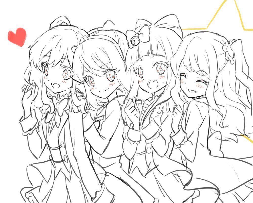 Yume Laura Mahiru And Ako Anime Nghệ Thuật Nghệ Thuật Anime