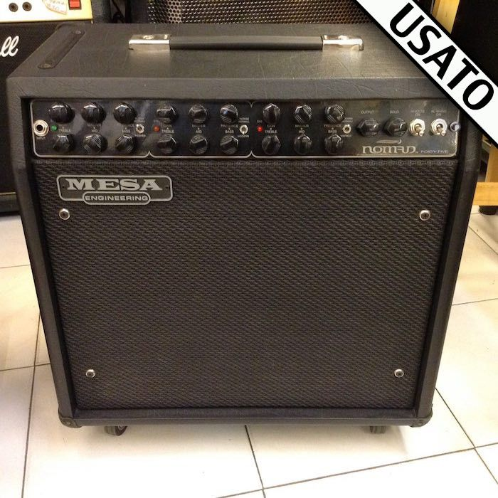 Amplificatore Mesa/Boogie Nomad 45 Usato 45 WATTS / 4XEL84, 5X12AX7* 3 FULLY INDEPENDENT CHANNELS W/ 6 MODES (CLEAN/CRUNCH, VINTAGE/MODERN X2)* ONBOARD SPRING REVERB* OUTPUT LEVEL CONTROL (OVER ALL CHANNELS)* SOLO LEVEL CONTROL* NORMAL/EXTREME POWER VOICING SWITCH* PARALLEL FX LOOP W/ MIX CONTROL* RECORDING/HEADPHONE OUT* SILENT RECORD MUTE SWITCH* SLAVE OUT