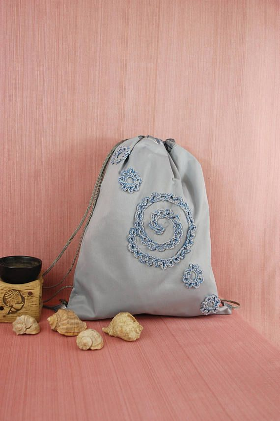 11ef8c2eda Handmade functional bag drawstring backpack children school bag
