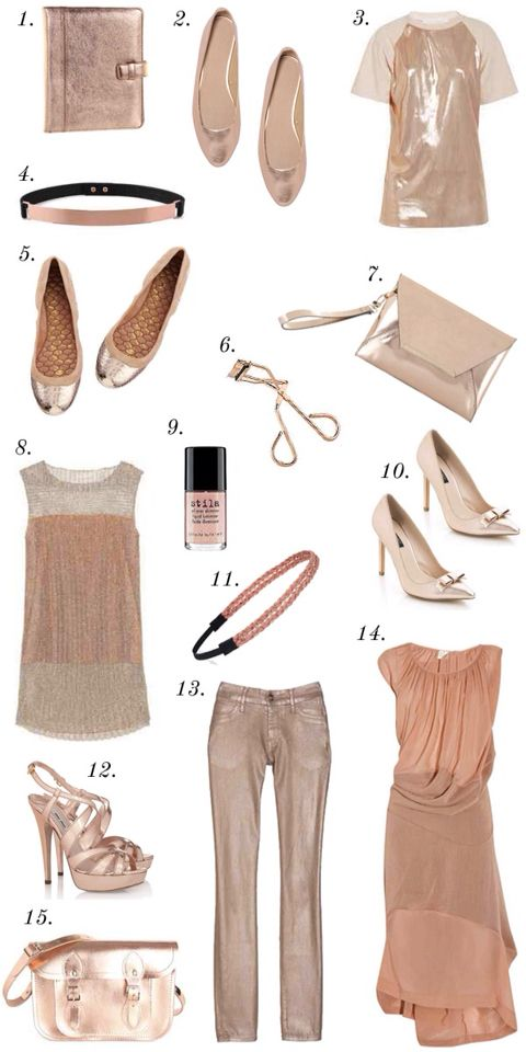 Rose gold outfit ideas
