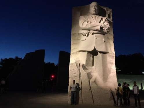 The Martin Luther King Jr Memorial By Night Provided By The