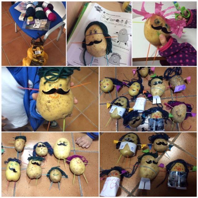 Hola: La clase de Alex - Super Minds 2 ( L-X-V 17.30) y los peques Jennifer (L-X-V 17.30) han trabajado juntos para convertir unas simples patatas en estas divertidísimas personas. ¡Enhorabuena o...