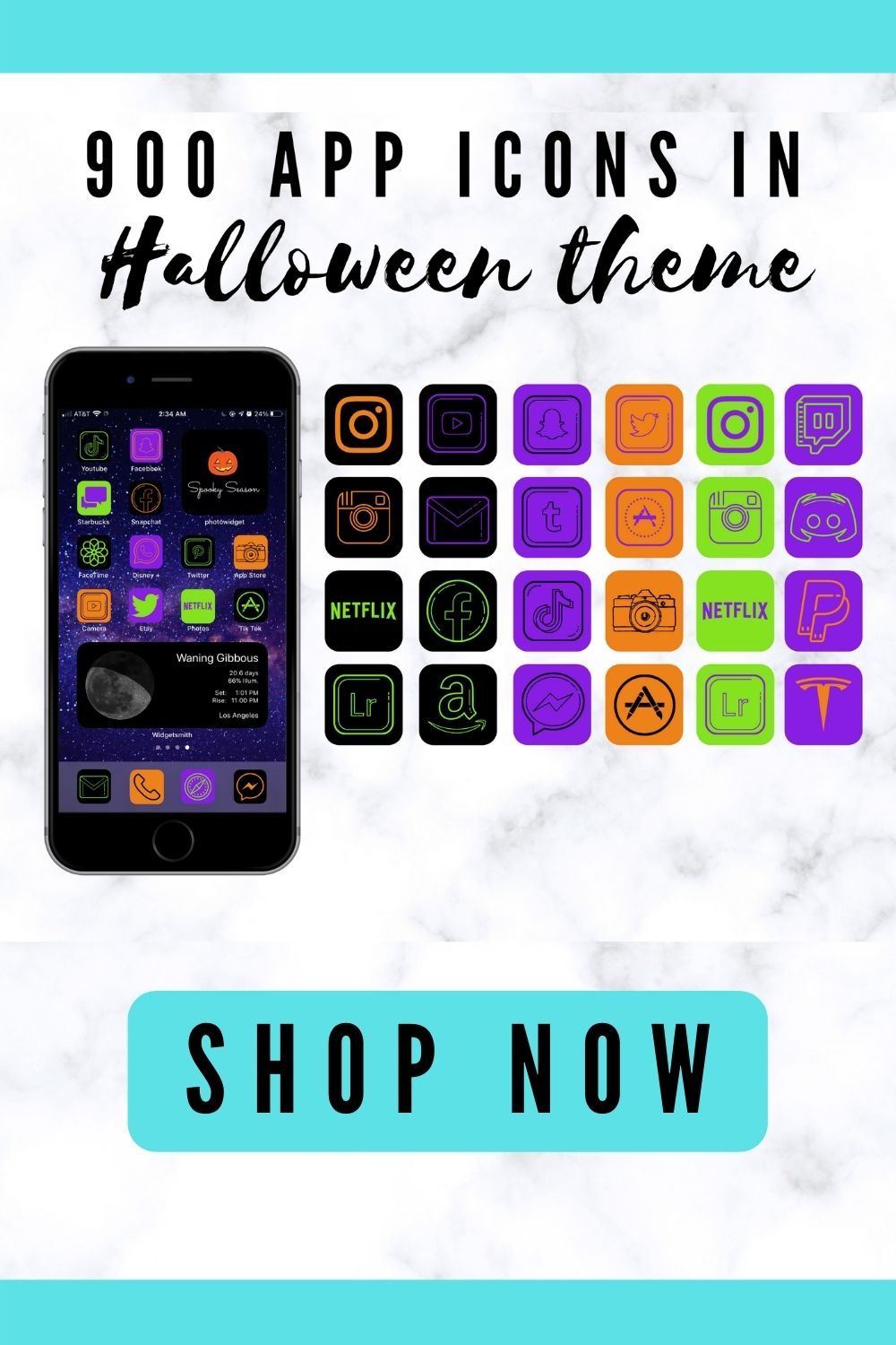 App icons Halloween them for iPhone, iOS 14 home screen ideas