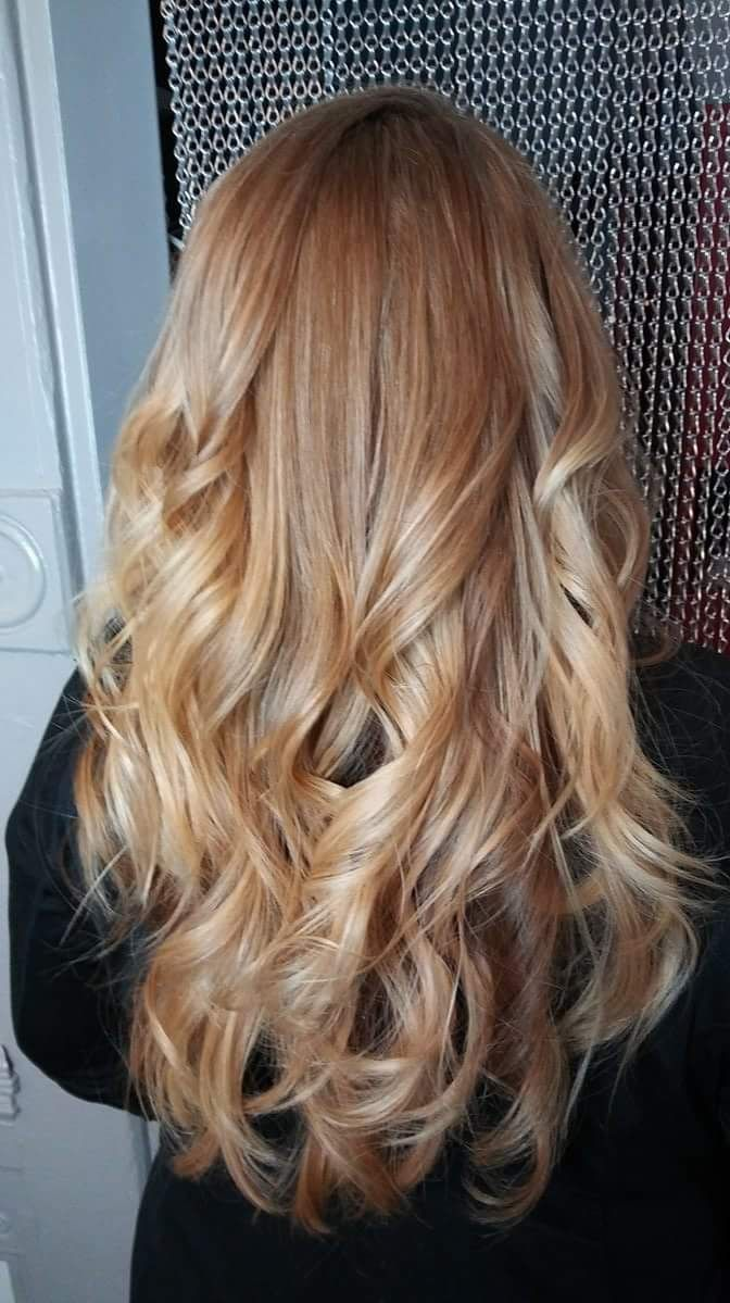 honey blonde hårfarve