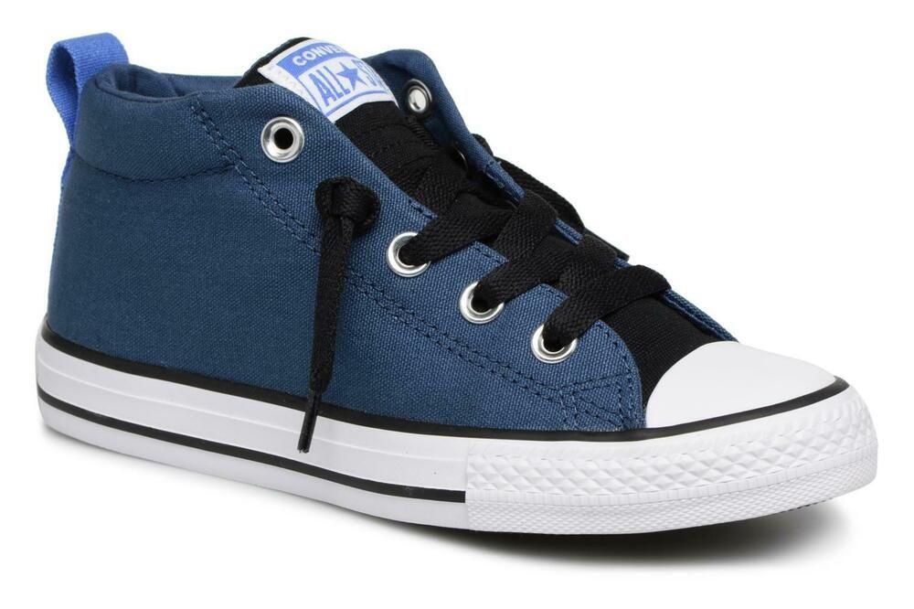 2b985e087a03e1 eBay  Sponsored Converse Chuck Taylor All Star Hi Street Mid Navy 661885F  Boys Sneaker Shoes