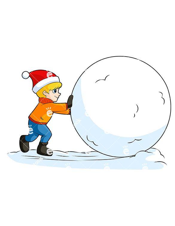 little boy rolling snowball cartoon vector clipart vector clipart rh pinterest co uk snowball clipart free snowball fight clipart images