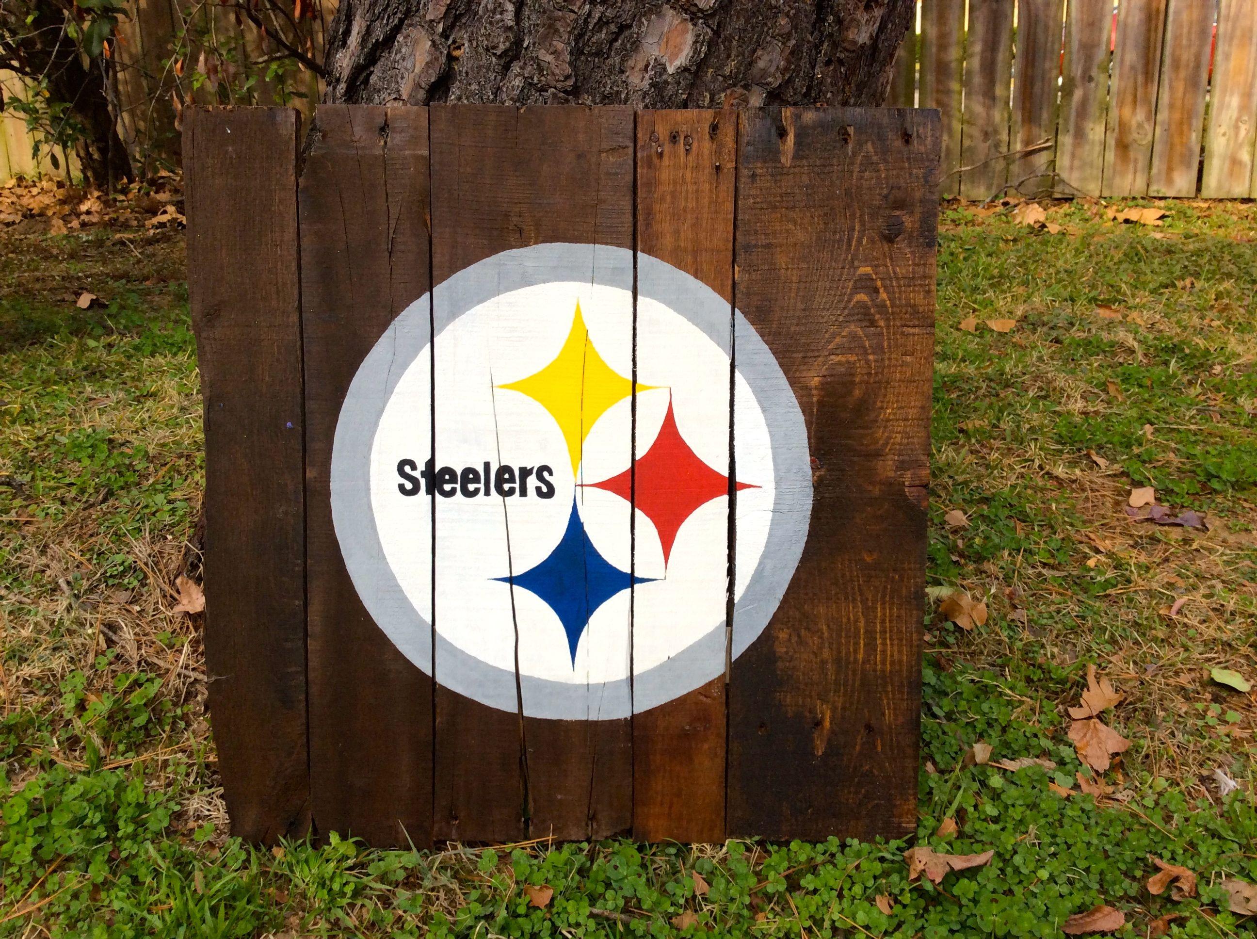 Steelers pallet art https www etsy com listing 208213843