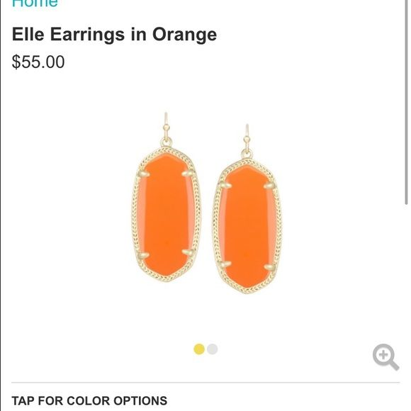 ‼️‼️ISO‼️‼️ ORANGE Kendra Scott Earrings Prefer Elle, but would consider Danielle. Kendra Scott Jewelry Earrings