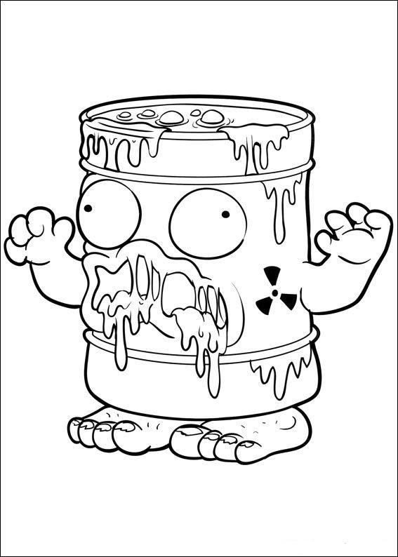 trash pack fargelegging for barn tegninger for utskrift