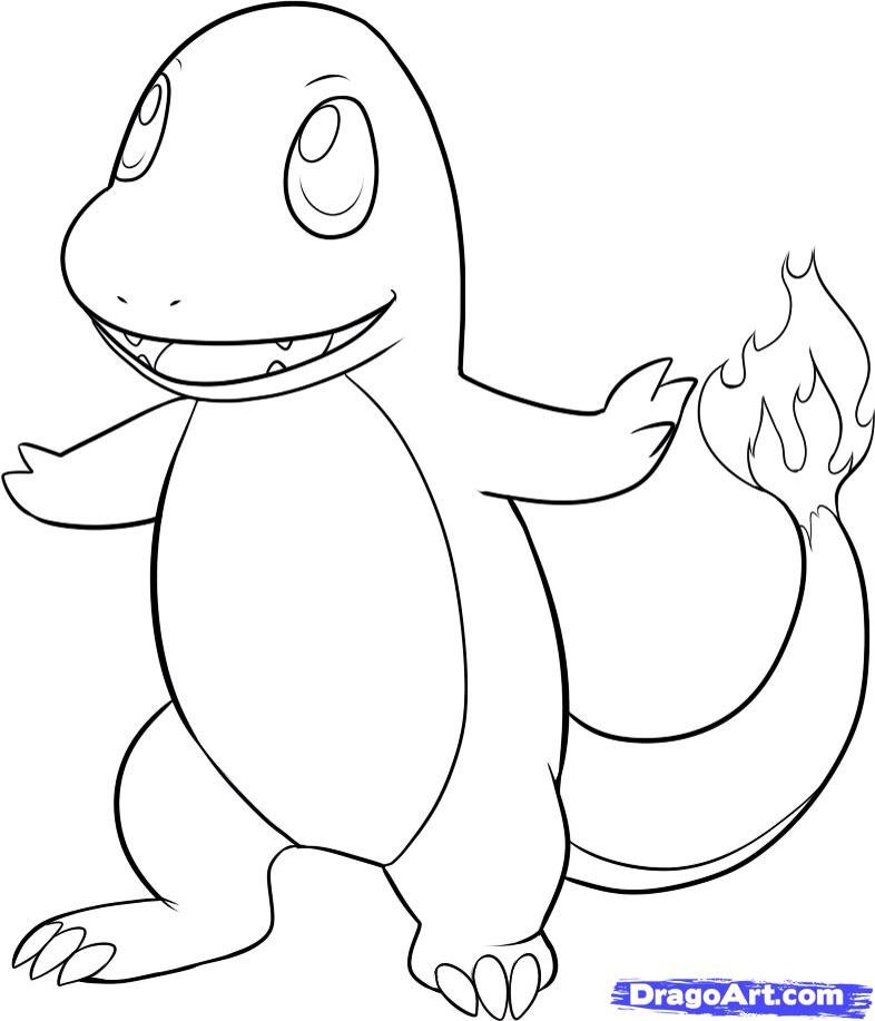 How to draw charmander step by step pokemon characters anime coloring home pages