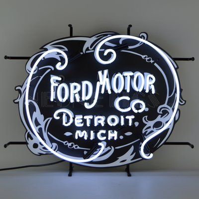 Neonetics Ford Motor Company 1903 Heritage Emblem Neon Neon Sign | Wayfair - Neon -