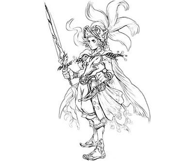 New final fantasy onion knight coloring pages magic for Final fantasy coloring pages