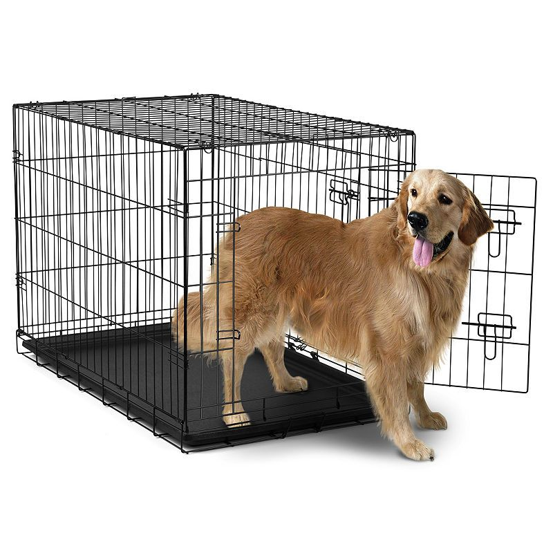 Paws Pals Metal Dog Crate Double Door Extra Large Dog Crate
