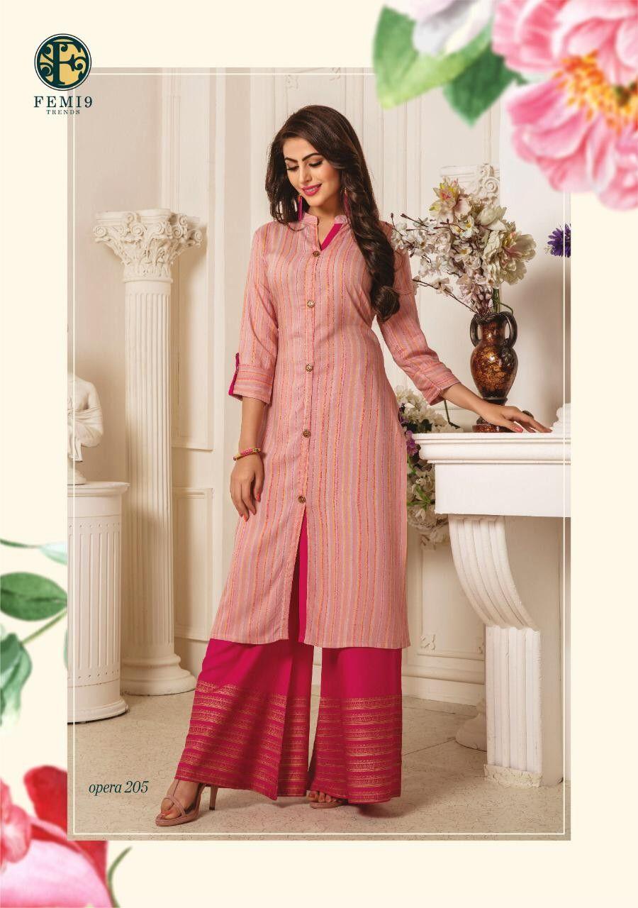 Order Femi 9 Kurtis 1060 On Whatsapp Number 919619659727 Or Artistryc In Dress Materials Kurti Designs Fashion