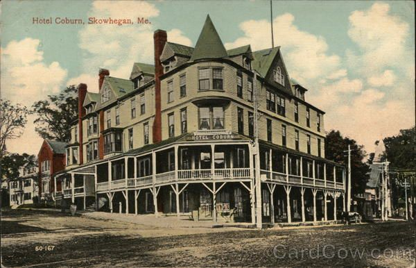Divided Back Postcard Hotel Coburn Skowhegan Me